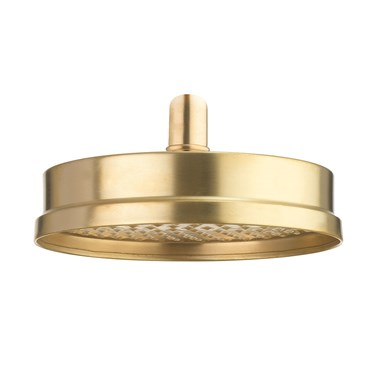 Crosswater MPRO Industrial 8 Inch Shower Head - Unlacquered Brushed Brass