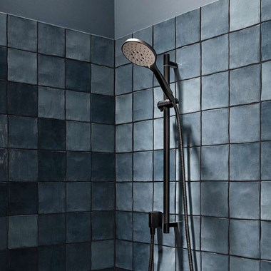 Crosswater MPRO Sliding Rail Shower Kit with Multi-Function Shower Handset - Matt Black