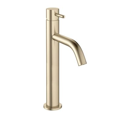 Crosswater MPRO Basin Tall Mixer Tap - Brushed Brass