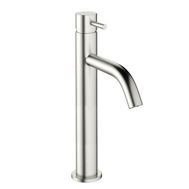 Crosswater MPRO Basin Tall Mixer Tap - Brushed Stainless Steel Effect