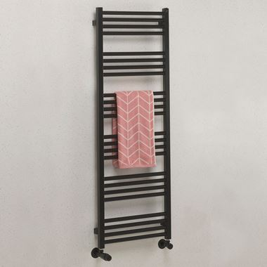 Crosswater MPRO Matt Black Heated Towel Rail - 1380 x 480mm