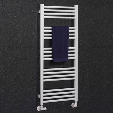 Crosswater MPRO Matt White Heated Towel Rail - 1140 x 480mm