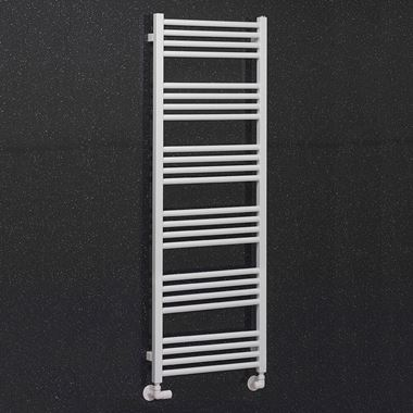 Crosswater MPRO Matt White Heated Towel Rail - 1380 x 480mm