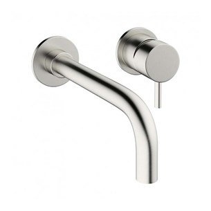 Crosswater Mike Pro Basin 2 Hole Set - Brushed Stainless Steel