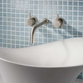 Crosswater MPRO Wall Mounted Basin Mixer with Twin Levers & Spout - Chrome