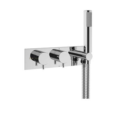 Crosswater Mike Pro Concealed Thermostatic Shower Valve with  2 Outlets & Handset Kit
