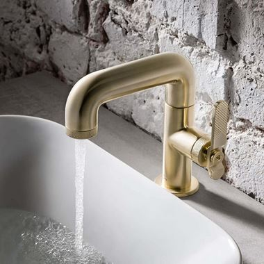 Crosswater Union WRAS Approved Mono Basin Mixer Tap - Brushed Brass