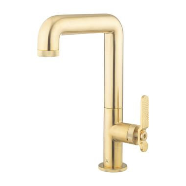 Crosswater Union Tall Basin Mixer Tap - Brushed Brass