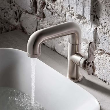 Crosswater Union WRAS Approved Mono Basin Mixer Tap - Brushed Nickel