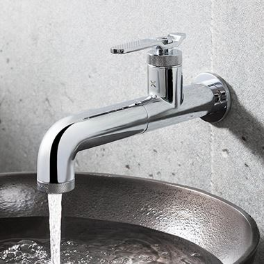 Crosswater Union 1 Hole Wall Mounted Basin Mixer Tap - Chrome