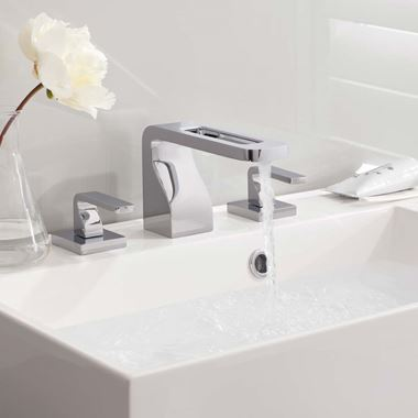Crosswater KH Zero 1 3 Hole Basin Mixer with Waste