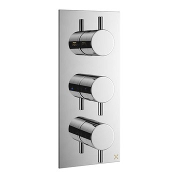 Crosswater Mike Pro Triple Thermostatic Shower Valve - 2 Outlets
