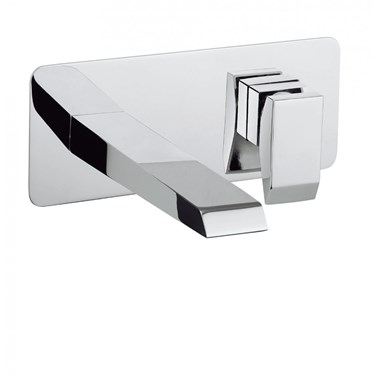 Crosswater Wedge Wall Mounted Basin Mixer