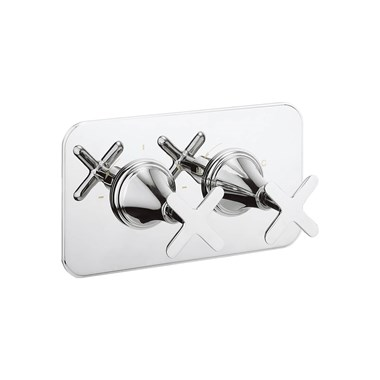 Crosswater Celeste Two Outlet Concealed Thermostatic Shower Valve - Landscape