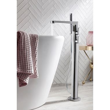 Crosswater Celeste Floor Standing Thermostatic Bath Shower Mixer with Shower Kit