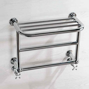 Butler & Rose Melleville Bathroom Traditional Heated Wall Mounted Towel Rail Radiator - 600 x 450mm
