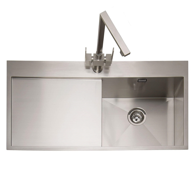 Caple Cubit 1 Bowl Satin Stainless Steel Sink & Waste Kit - 1000 x 520mm