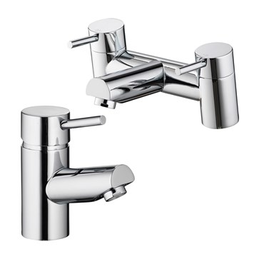Vellamo Curvo Basin Mixer & Bath Filler Pack
