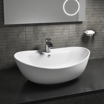 Oval Countertop Basin - One Tap Hole