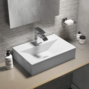 Rectangular Wall Hung/Countertop Basin - One Tap Hole