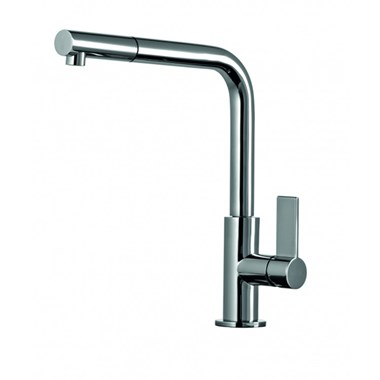 Clearwater Auriga Single Lever Mono Kitchen Tap With Pull Out Spray - Chrome