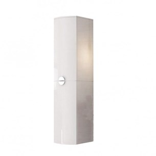 Dream D Shape 1400mm Tall Boy Unit - Gloss White