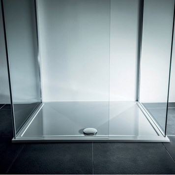 Drench 25mm Wafer Thin Luxury Stone Square Shower Tray - 1000x1000