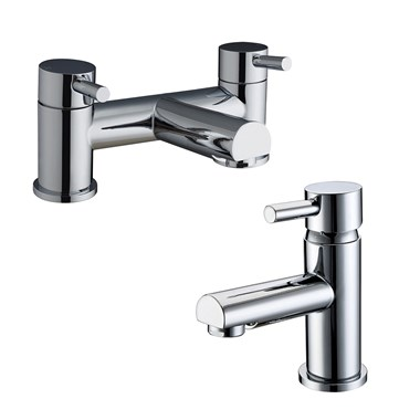 Vellamo Twist Basin Mixer and Bath Filler Pack
