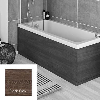 Harbour Dark Oak 1700mm Vinyl Wrap Bath Panel