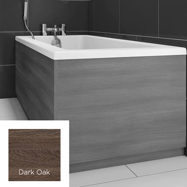 Harbour Dark Oak Vinyl Wrap Bath End Panel