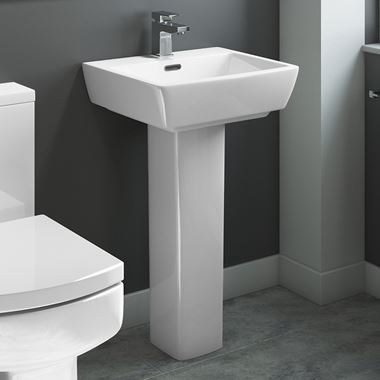 Vellamo 520mm Aspire Basin & Pedestal
