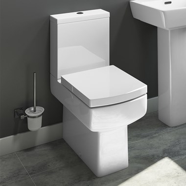 Vellamo Aspire Space-Saving Fully Back to Wall Toilet & Soft Close Seat