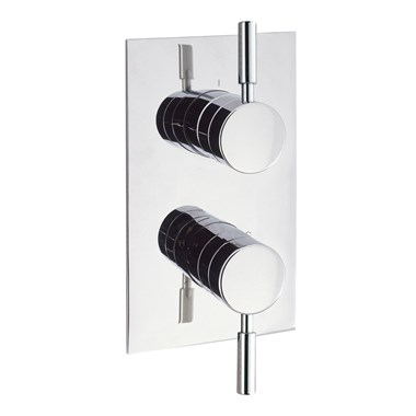Crosswater Design Concealed Thermostatic Shower Valve with 2 Way Diverter