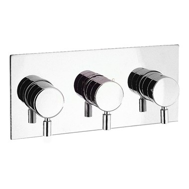 Crosswater Design Concealed Thermostatic Shower Valve 3 Control (Landscape)