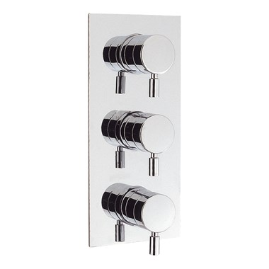Crosswater Design Concealed Thermostatic Shower Valve with 3 Way Diverter