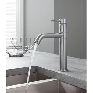 Crosswater Cucina Design Single Lever Mono Kitchen Mixer - Brushed Stainless Steel