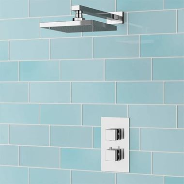 Drench Delilah Concealed Thermostatic Shower Valve & ABS Fixed Shower Head