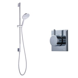 Crosswater Digital MPRO Shower Set with Thermostatic Shower Valve and Slide Rail Kit