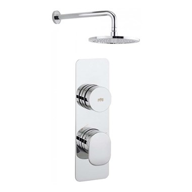 Crosswater Dial Pier 1 Control Shower Valve with Fixed Head & Arm
