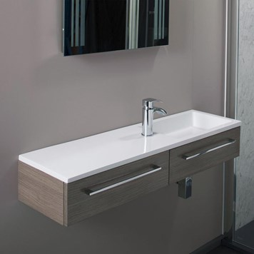 Dias Medium Oak Wall Hung Basin Vanity Unit