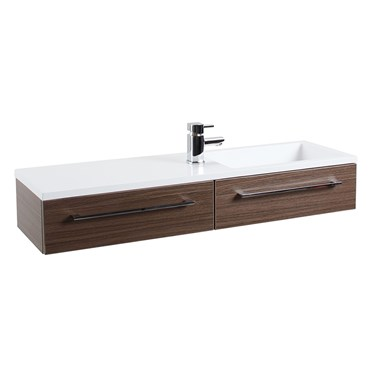 Dias Walnut Wall Hung Basin Vanity Unit
