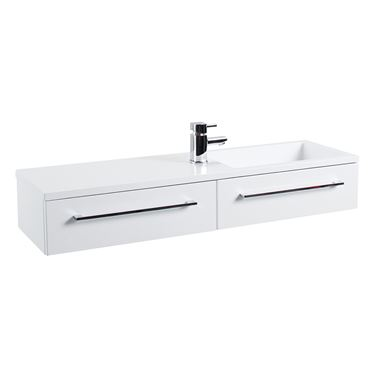 Dias Gloss White Wall Hung Basin Vanity Unit