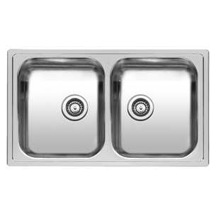 Reginox Diplomat 20 Double Bowl Stainless Steel Inset Kitchen Sink & Waste