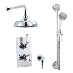 Phoenix Doccia Traditional Dual Function Thermostatic Shower Valve & Shower Kit