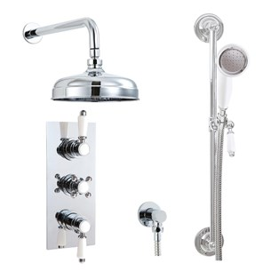 Phoenix Doccia Traditional Dual Function Thermostatic Shower Valve & Kit
