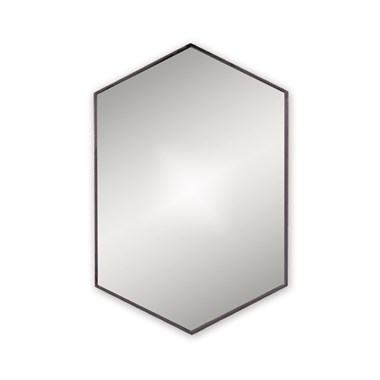 Bathroom Origins Docklands Hexagonal Mirror - Black