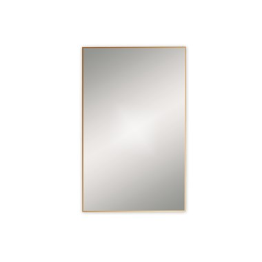 Bathroom Origins Docklands Rectangular Mirror - Brushed Brass