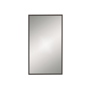 Bathroom Origins Docklands Rectangular Mirror - Black