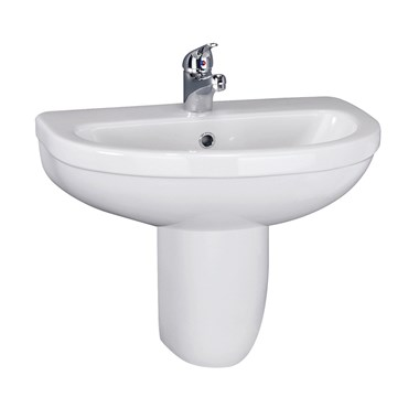 Dove 550mm Semi Pedestal & Basin