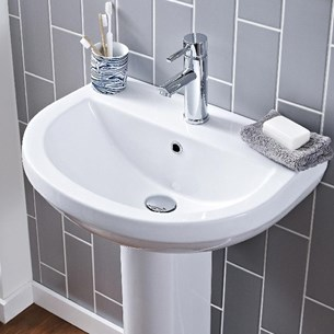 Dove 550mm Full Pedestal & Basin